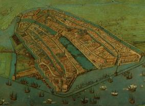 Cornelis Anthonisz: El más antiguo mapa de Ámsterdam, 1538. Amsterdams Historisch Museum, Ámsterdam