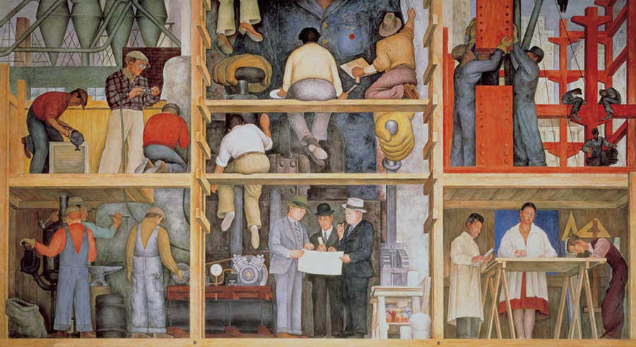La ciudad perfecta idonika for Diego rivera mural san francisco art institute
